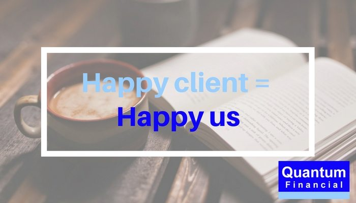 Happy client Happy Quantum Financial